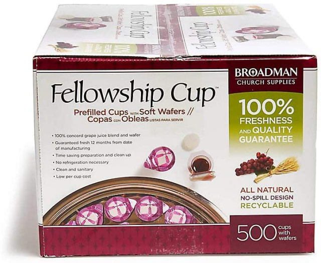Broadman 500 ct. Pre-filled Communion Fellowship Cup, Juice and Wafer