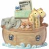 Precious Moments Overflowing with Love Noah's Ark Top Slot Porcelain Bank